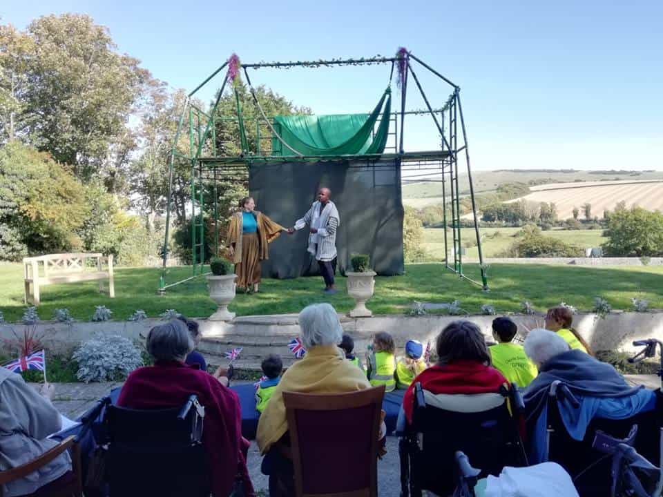 The Dot Collective putting on A Midsummer Night's Dream at Alfriston Court Nursing Home